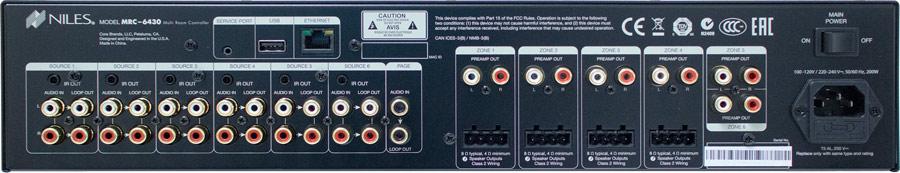 Niles Auriel MRC-6430 Rear Panel