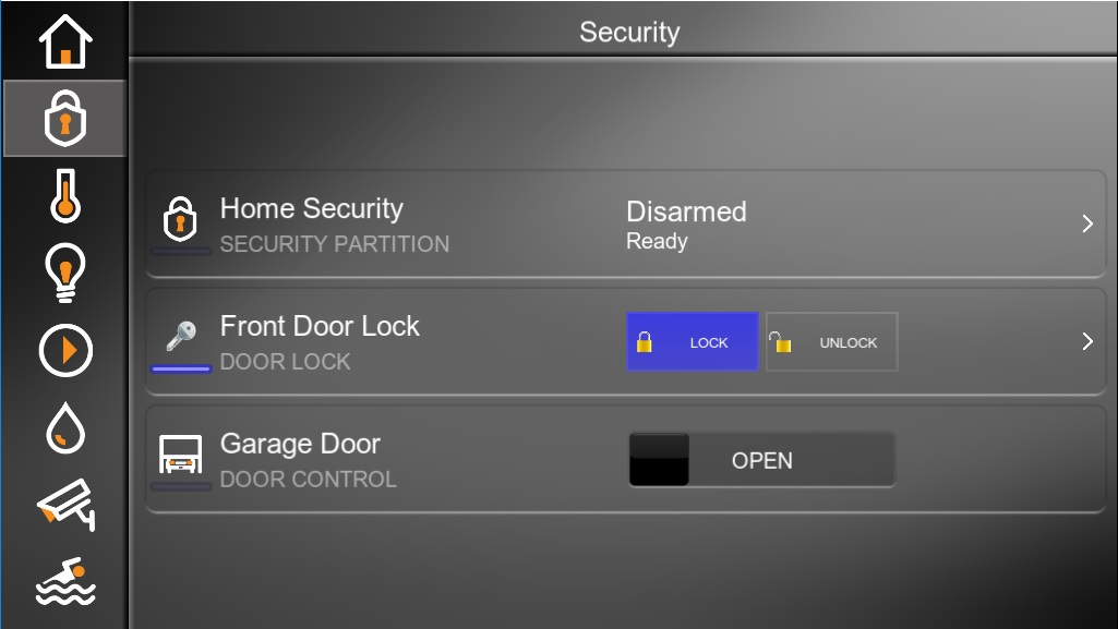 Elan Security Main Page