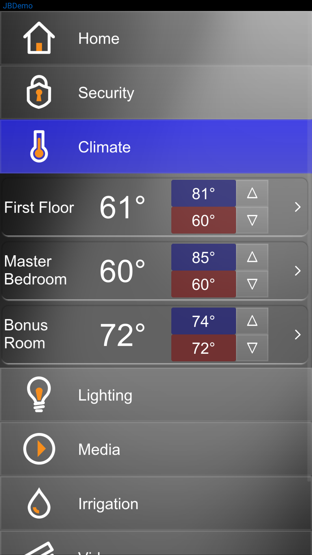 Elan Climate Control - Mobile App