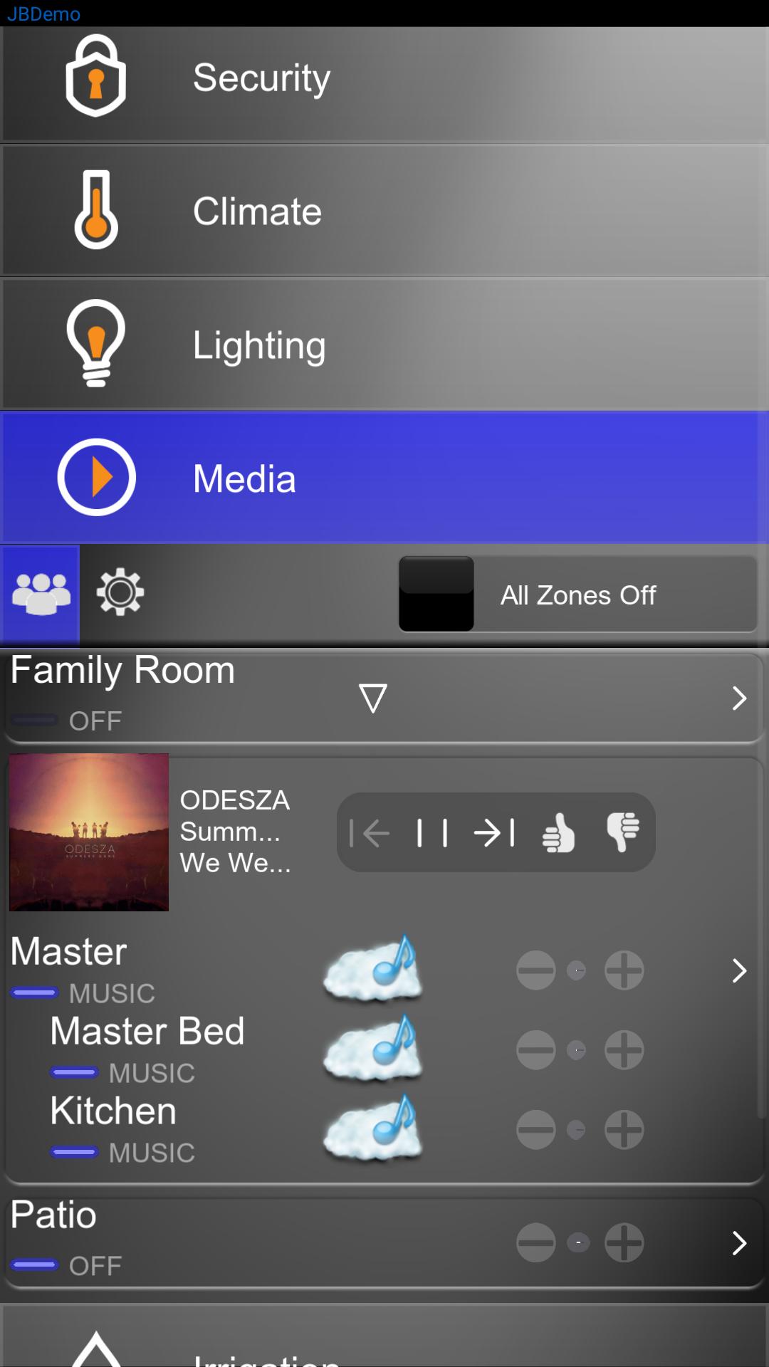Elan Audio Video Control - Mobile App