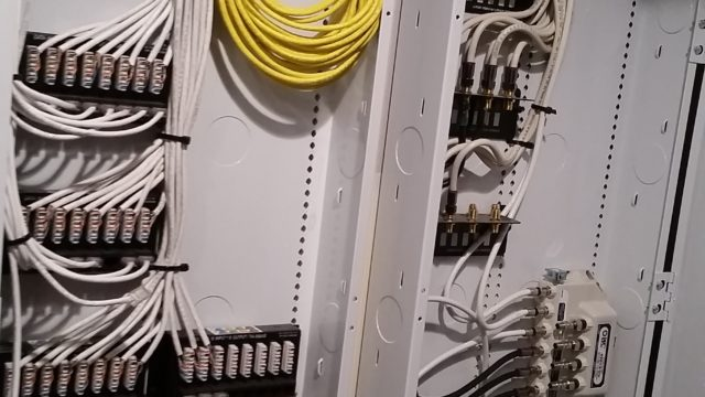 low voltage wiring – structured cabling enclosure termination